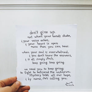 Keep Going // Poem
