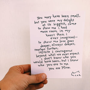 You Are Mine // Poem