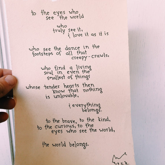 To the Eyes // Poem