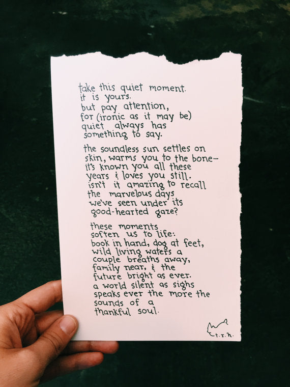This Quiet Moment // Poem