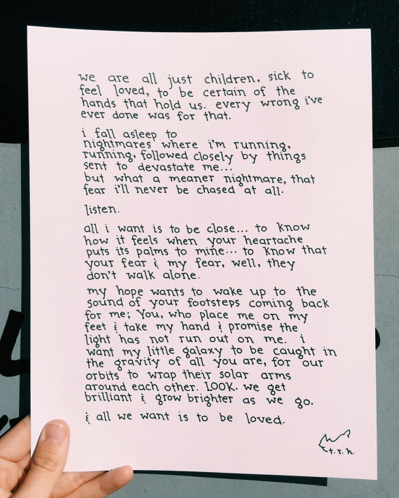 To Be Loved // Poem