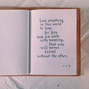 Find Something // Poem