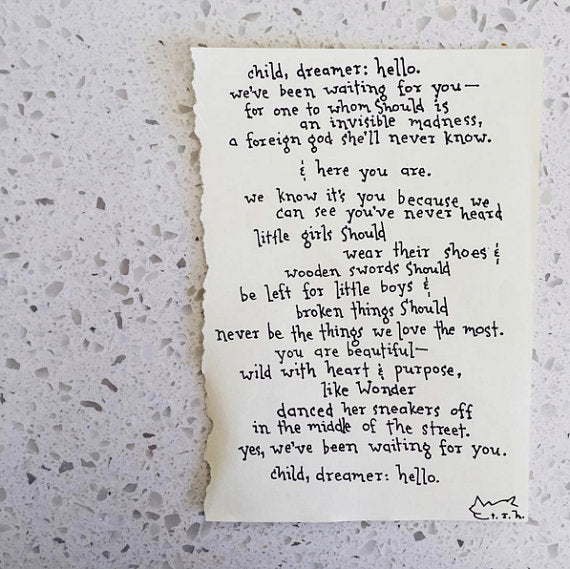 Child, Dreamer // Poem