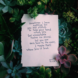 Where Love is Loud // Poem