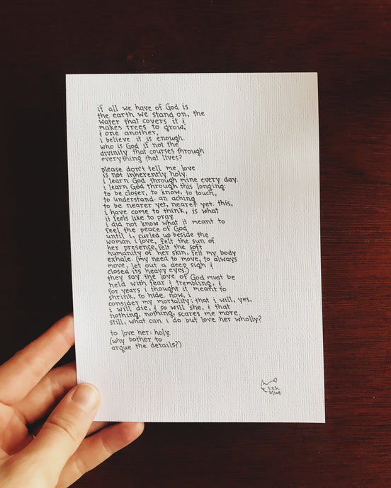All We Have of God // Poem