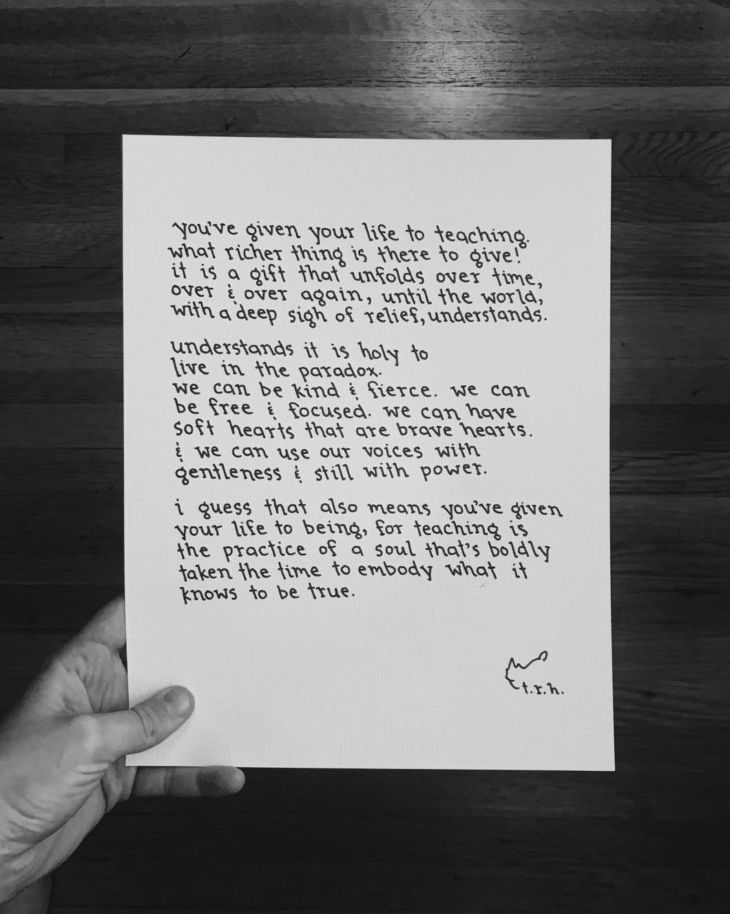 Teaching // Poem