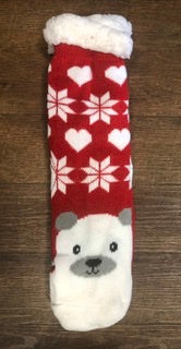 Red  Polar Bear Socks