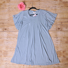 Umgee Seafoam Blue Pintuck Dress