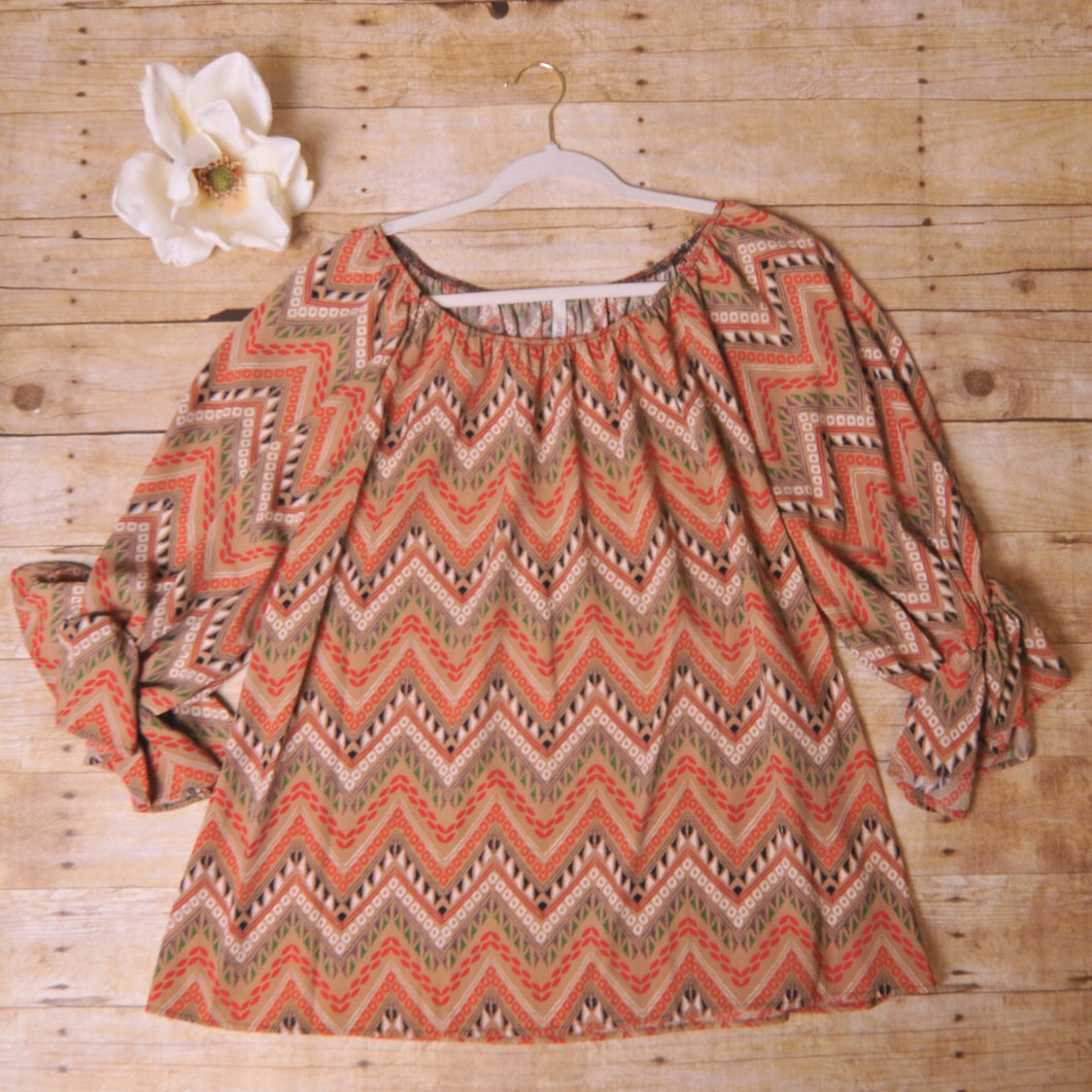 Cezanne Fall Chevron Top
