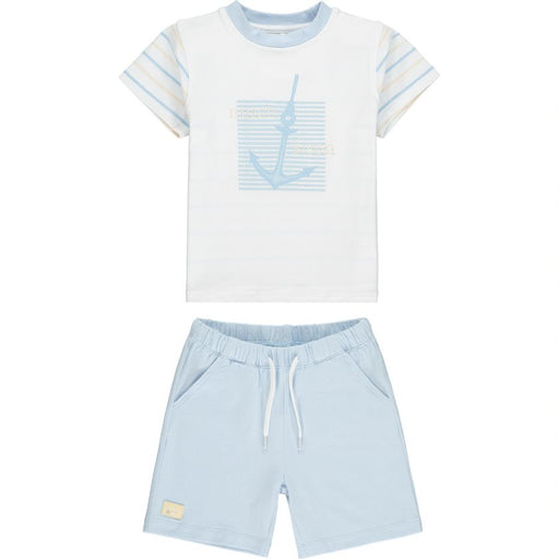 PRE-ORDER Mitch & Son Pale Blue Anchor Shorts Set