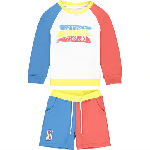 Mitch & Son Red/Blue Jumper Shorts Set