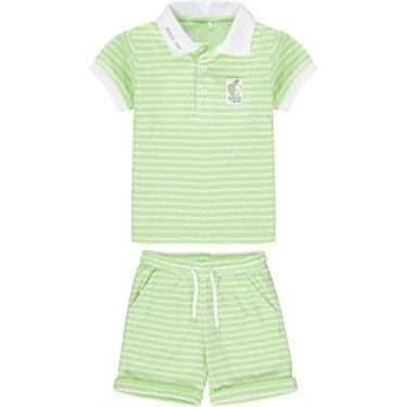 Mitch & Son Green Towelling Shorts Set