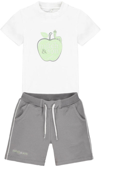 Mitch & Son Green/Grey Shorts Set