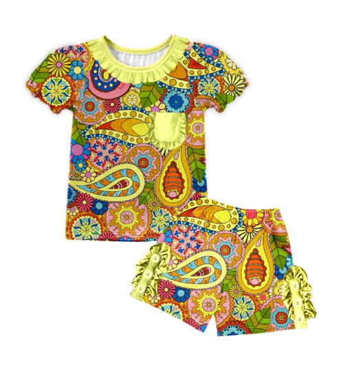 PRE-ORDER Pineapple Couture Paisley Shorts Set