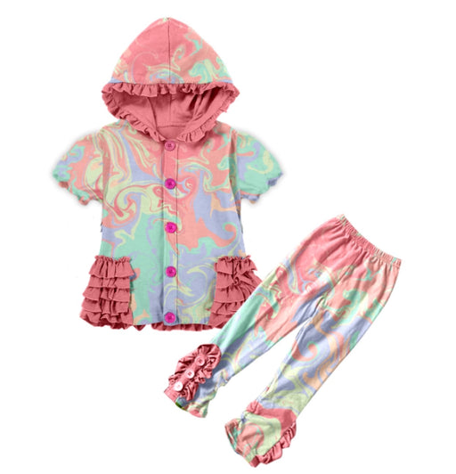 PRE-ORDER Pineapple Couture Marble Hooded Outfit