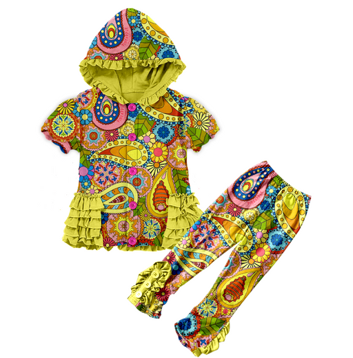 PRE-ORDER Pineapple Couture Paisley Hooded Outfit