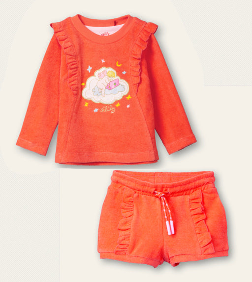 PRE-ORDER Oilily Angel On A Cloud Toweling Shorts Set