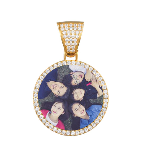 925starling silver photo medallion necklace