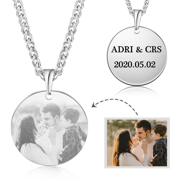 Personalized Black and White round Picture Necklace NE104729.jpg