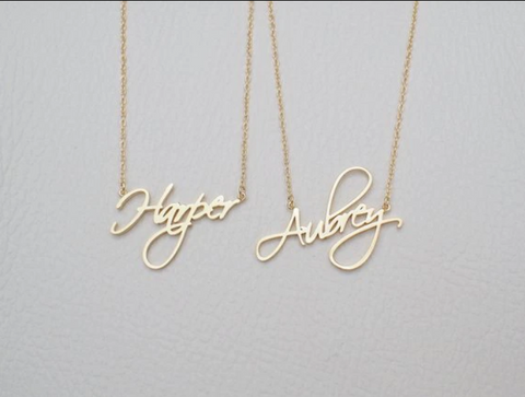 Engraved giftsly custom name necklace