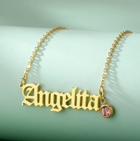 Customized Letter Zircon Name Necklaces