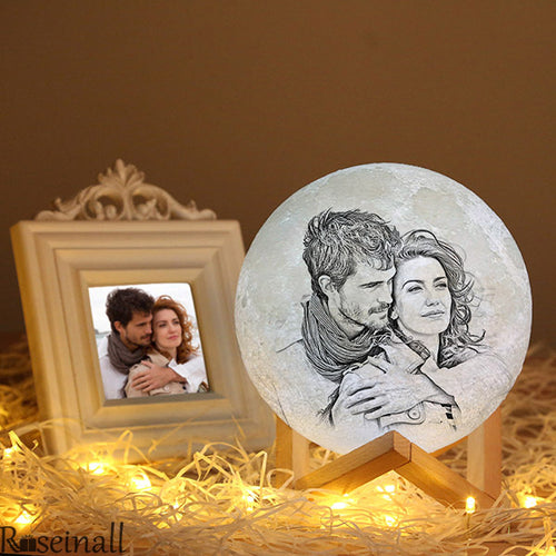 3D Custom Photo Engraving Moon Light The Best Christmas Gifts For Girlfriend