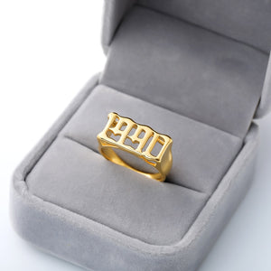 Personalized Rings With Special Dates Or Birth Year