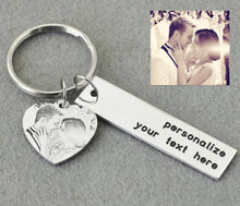 Custom Photo Keychain With Personalized Text