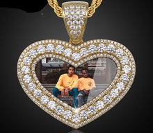 Custom Photo Heart Medallion Necklace Men And Women