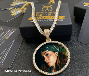 Custom Photo Medallion Necklace- Plating Of Gold Medallion Necklace Christmas Gifts For Women