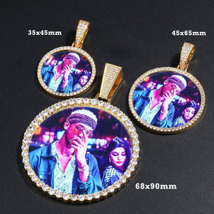 Custom Photo Medallions Necklace Christmas Gifts 2020