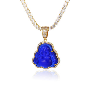 Buddha Pendant AAA Zirconia Hip Hop Necklace For Women