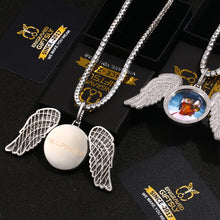 18k Gold Plated Custom Made Photo Angel Medallion Necklace