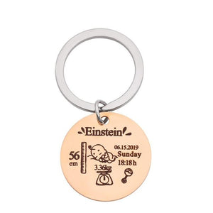 Personalized Keychain With Date, Photo, Engrave Text- Christmas Gifts For Mom