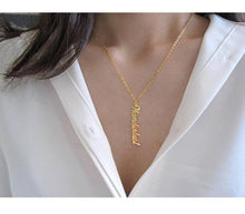 Personalized Vertical Name Necklace For Women