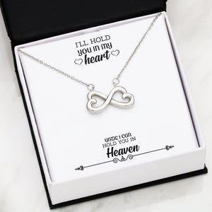 Beautiful Heart Infinity Necklace With Remembrance Heart Message Card