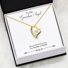 LOVE Forever Heart Necklace With Remembrance Guardian Angel Message Card