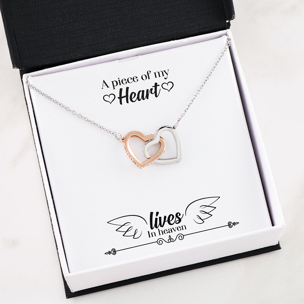 Interlocking Heart Necklace With