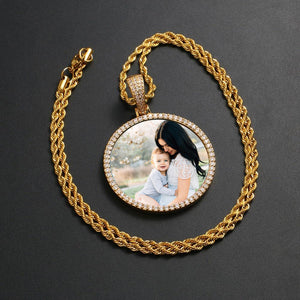 Custom Photo Medallion Necklace- Best Christmas Gifts For Girlfriend