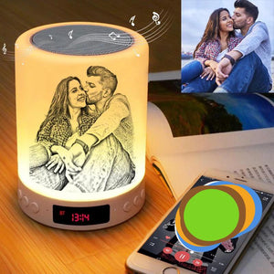 Custom Photo Night Light And Mini Bass Speaker