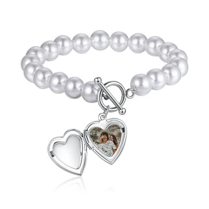 Pearl Photo bracelet for her