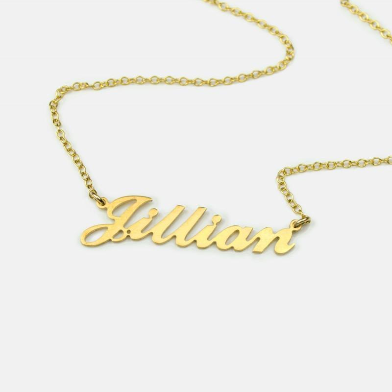 Personalized Name Necklace Carrie Style