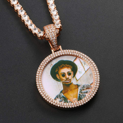 Custom Double Layers Memory Medallions Photo Necklace