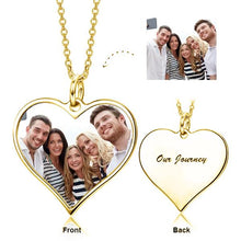 Custom Photo Heart Necklace- Heart Shape Personalized Photo Necklace