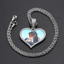 18k Gold Plated Custom Heart Photo Medallion Necklace For Women And Men