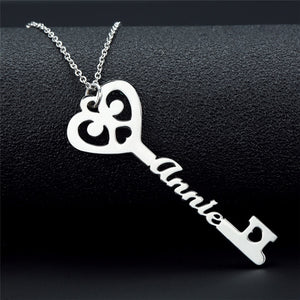 Personalized Key Name Pendant Necklace