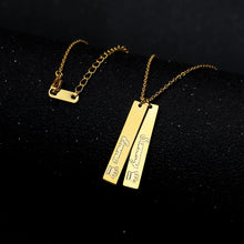 Personalized Vertical Bar Necklace With Your Name