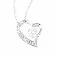 "Beautiful LOVE Forever Heart Necklace With Husband To Wife Romantic ""Heart To Heart"" Message Card"