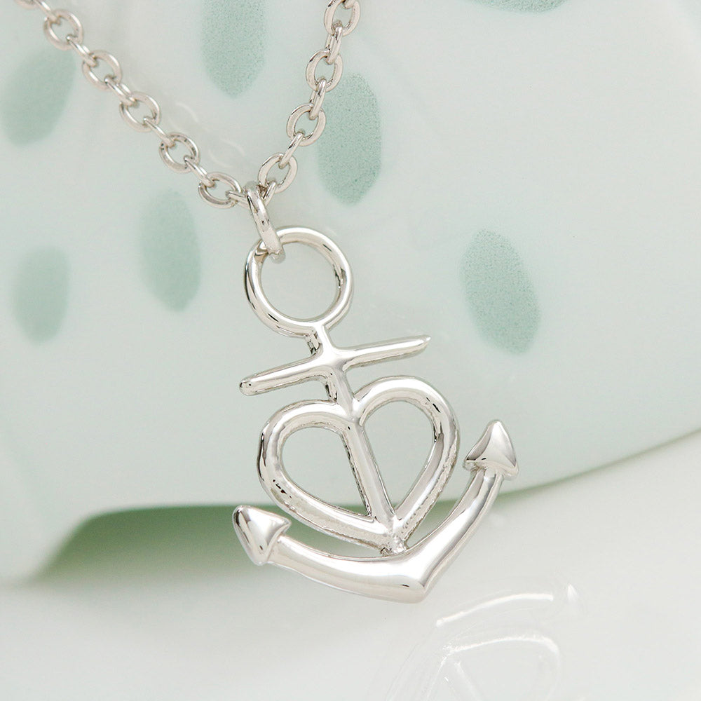 Anchor Heart Necklace With Husband To Wife Quot Forever And