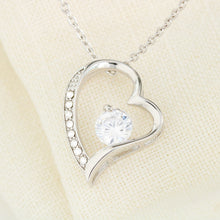"Beautiful Cubic Zirconia LOVE Necklace With Husband To Wife Romantic ""Forever and Always"" Message Card"